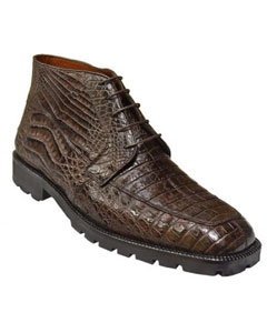 Authentic Los altos Coco Chocolate brown All-Over Genuine crocodile skin ~ Gator skin Ankle men's Short Shoes Mens Crocodile Boots - Ankle Boot