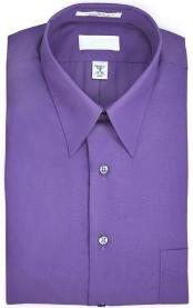 Point collar Wrinkle resistant Poplin fabric, 65% Man Made Fiberester, 15% cotton Purple pastel colo