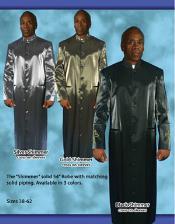 Banded Collar Suit SilverGoldDark