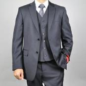 ID#KA1509 Authentic Mantoni Brand Three buttons Grey Wool fabric Suit