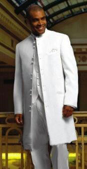 ID# MUHMA45GA Matrix Style 45 Icnh Full Length Zoot Suit Mandarin Collar 10 Button (5 x 2 Pair)