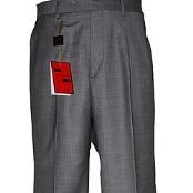 Gray Wool fabric Single-pleated