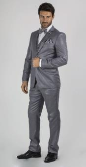 Grey Two buttons Suit