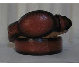Faded Cognac Lizard skin