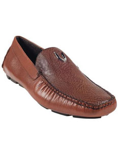 ID#KA6696 Light Brown ~ Cognac Genuine Shark Driver Vestigium Driving Cheap Priced Exotic Skin Sale Mens Prom Shoes slip on Stylish Dress Loafer