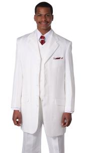 Men White Church Suits