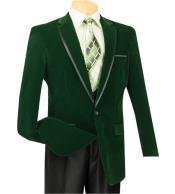 Buttons Emerald Green Velour
