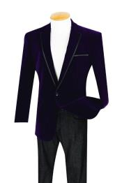 ID#SS-8412 Single Buttons Black and Purple Two toned pastel color Velour Dinner Jacket Tuxedo Best Cheap Blazer Suit Jacket For Affordable Cheap Priced Unique Fancy For Men Available Big Sizes on sale Men Affordable Sport Coats Sale With Trim