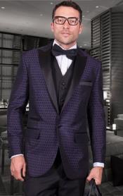 Buttons peak Collared tuxedo