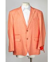 ID#SM633 Papaya  Notch Collared With Side Vent Two buttons Best Cheap Blazer For Affordable Cheap Priced Unique Fancy For Men Available Big Sizes on sale Men Affordable Sport Coats Sale Jacket