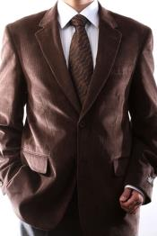 ID#SS-69 Two Button Coco Chocolate brown Cotton Corduroy Best Cheap Blazer For Affordable Cheap Priced Unique Fancy For Men Available Big Sizes on sale Men Affordable Sport Coats Sale