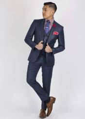 buttons Slim Fit Suit