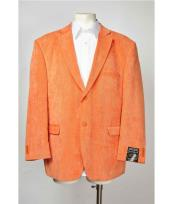 Button Notch Collared Orange