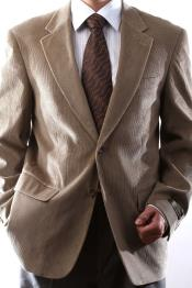 Button Tan Cotton Corduroy