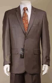 Mens 2 Button Taupe Suit