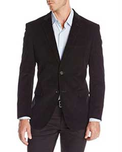 ID#RM1423 Two-button corduroy Jacket Best Cheap Blazer For Affordable Cheap Priced Unique Fancy For Men Available Big Sizes on sale Men Affordable Sport Coats Sale Dark color black