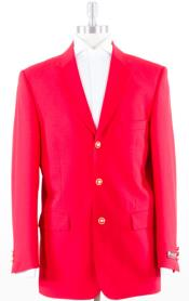 ID#MK603 Basic Solid With Brass Buttons Jacket Flap Pockets Three buttons Best Blazer For Inexpensive ~ Cheap ~ Discounted  Sport Coats Sale with Affordable Cheap Priced Unique Fancy For Men Available Big Sizes on sale Red Blazer Suit Jacket Coat