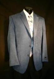 ID#WEC5432 Azure Blue Microfiber Best Designer Casual Cheap Priced Fashion Blazer Dress Jacket For Affordable Cheap Priced Unique Fancy For Men Available Big Sizes on sale Men Affordable Sport Coats Sale