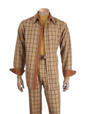 Button Up Checked Microfiber