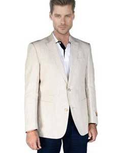 ID#AA392 Sand ~ Natural ~ Beige Linen Sportcoat Jacket Best Cheap Blazer For Affordable Cheap Priced Unique Fancy For Men Available Big Sizes on sale Men Affordable Sport Coats Sale