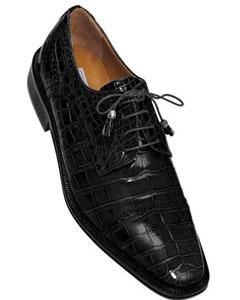 ID#SM732 Ferrini Dark color black Full Cap Gator Skin Leather skin Lace Up Gator skin Cheap Priced Exotic Skin Shoes For Sale For Men for Men