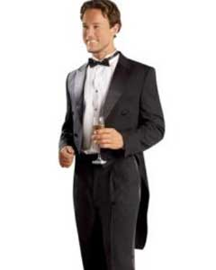 color black Tuxedo Tailcoat