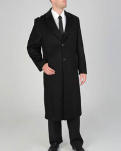 ID#AB123 'Harvard' Dark color black Wool-cashmere Full-length Coat