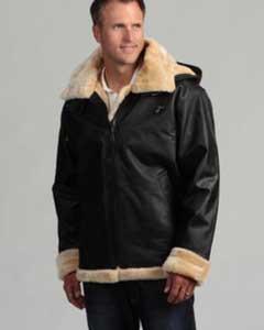 skin Shearling Bomber Jacket