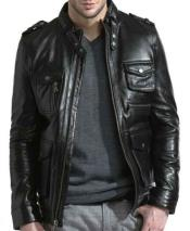 Lambskin Leather Front Zipper