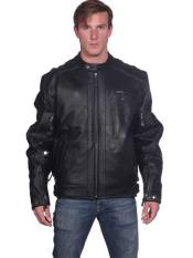 Black Leather Front Zipper