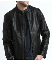 ID#PN86 The Classic Distressed Moto Jacket In Genuine Cowhide Leather skin
