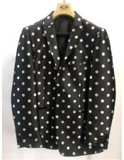 Button Black Polka Dot