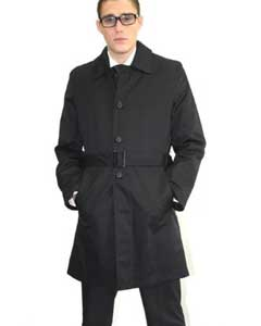 color black Belted Trench