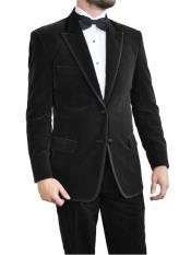 color black Velvet Tuxedo~Velour