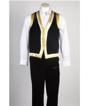 Black Matching Vest &