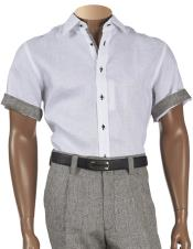 Button Closure Linen Short