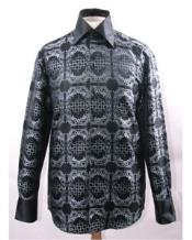 Pattern High Collar Black/White