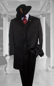 color black Zoot Suit