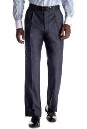 ID#KO18132 Blue Alberto Nardoni Selection 2018 Flat Front Pants