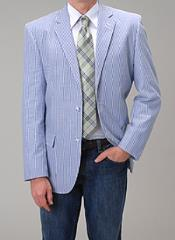 Blue Summer Blazer Suit