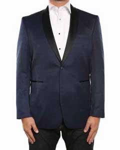 Textured Tuxedo Shawl Collar