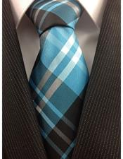 Teal Polyester Necktie Woven