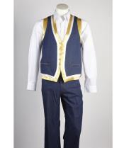 Blue Matching Vest &