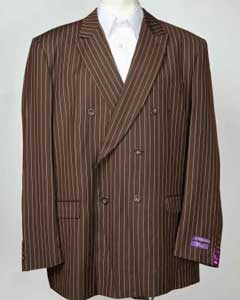 Chocolate brown Pinstripe 6