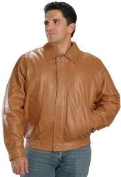 Classic Bomber Leather skin Jacket In go Color - Big and Tall Bomber Jacket