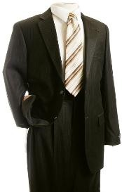 ID#VF2420 Suit Coco Chocolate brown Pinstripe Designer affordable suit online Reduced Price