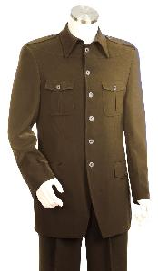 ID#HP5055 Luxurious Coco Chocolate brown Zoot Suit