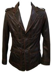 Chocolate brown Lamb Leather