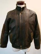 skin Distressed Bomber with