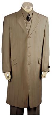 Button Dual Stripe Brown